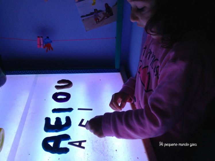 mesa luz letras