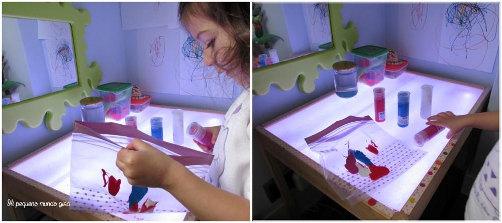 mezclar colores sensorial
