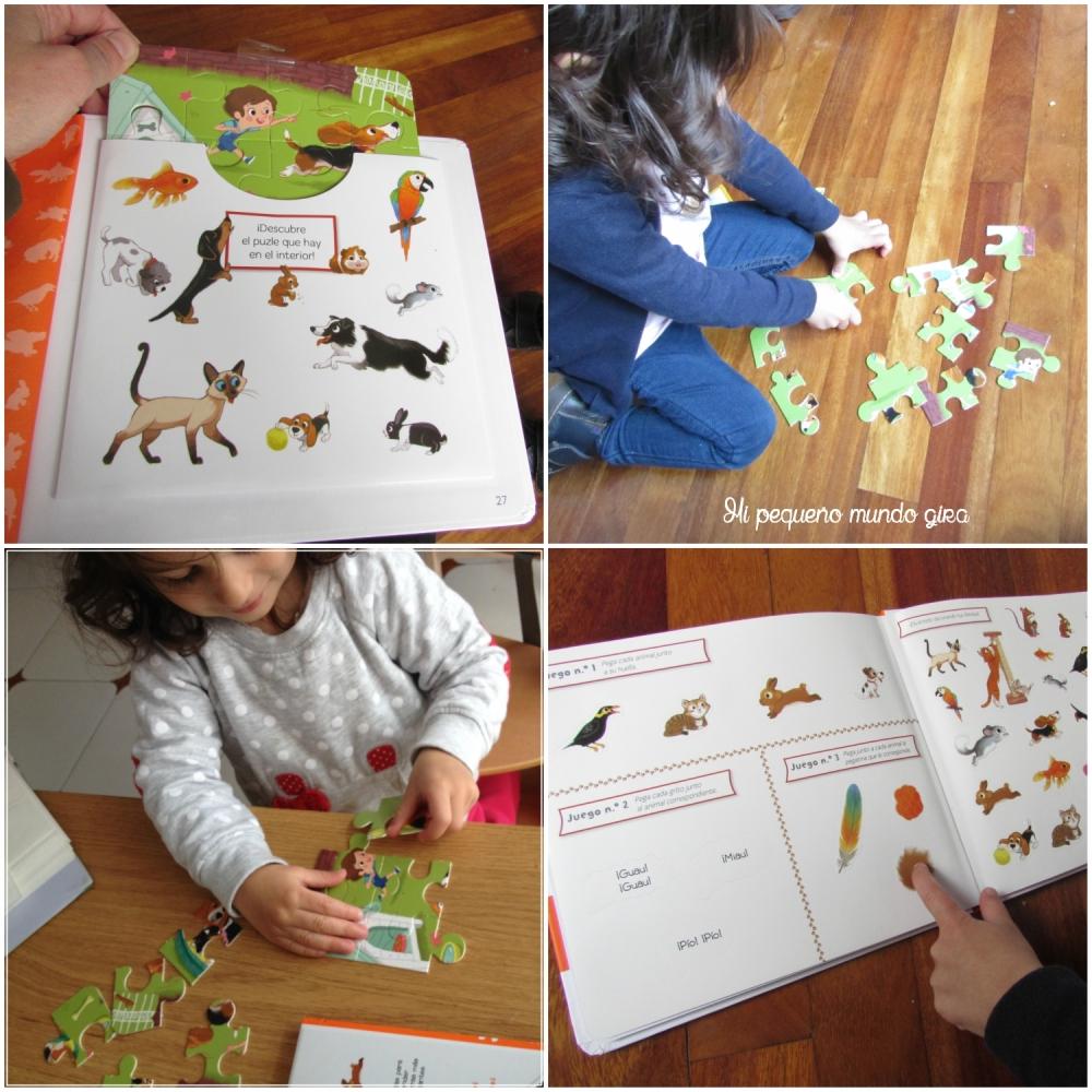 mascotas puzzle pegatinas