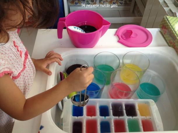 hacer colores y hielos