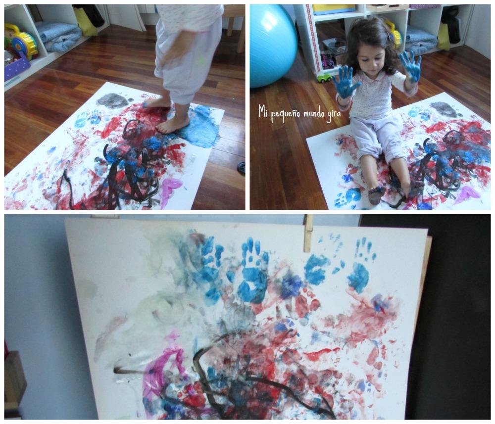 pintar manos pies