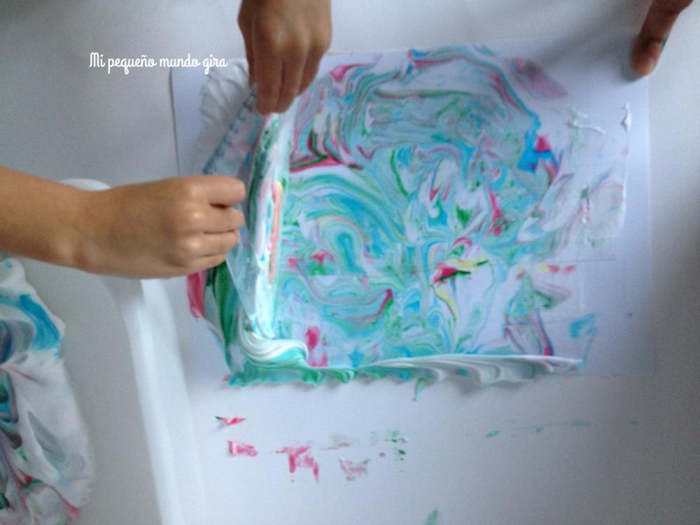 pintar con espuma