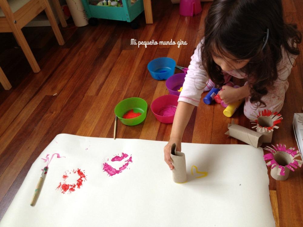 estampar y pintar