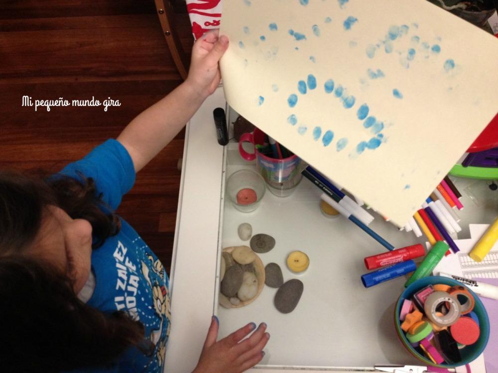 pintar con huellas dedos