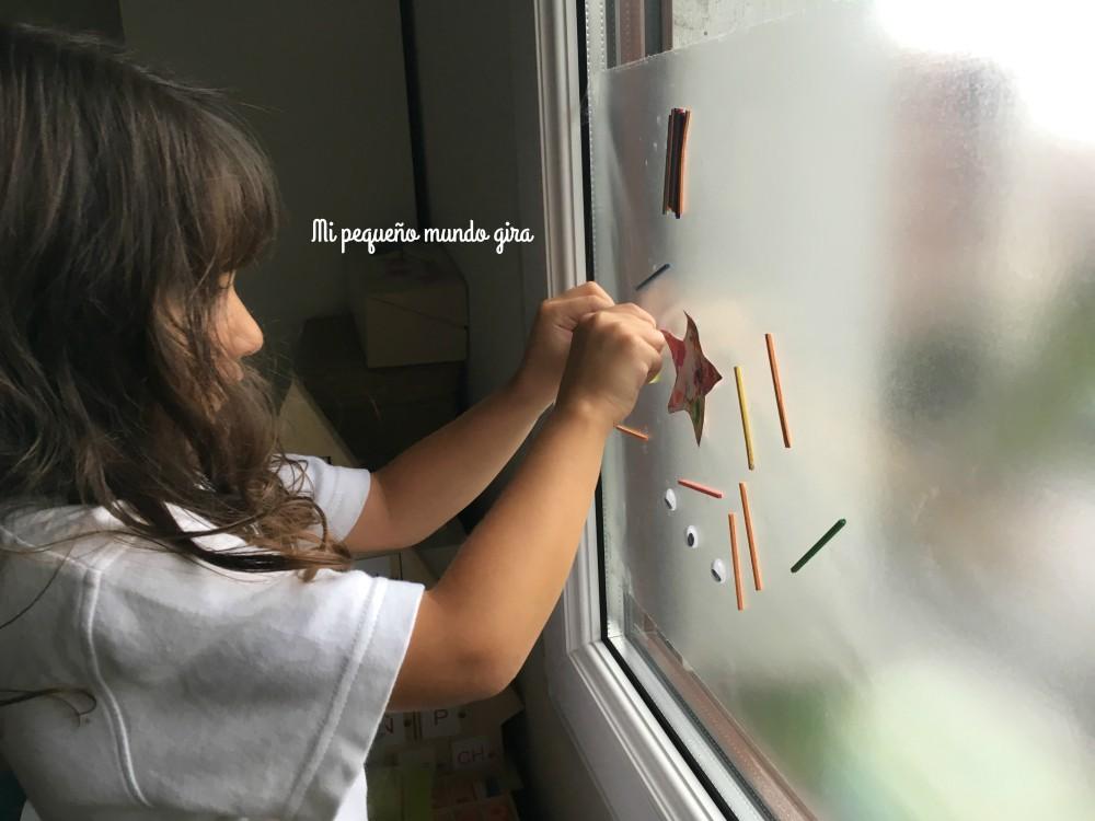 crear un mural para la ventana