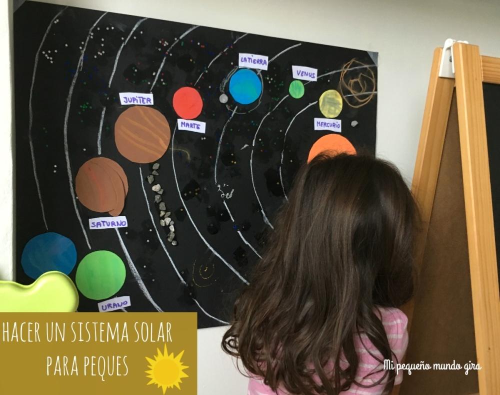 como hacer un sistema solar para niños