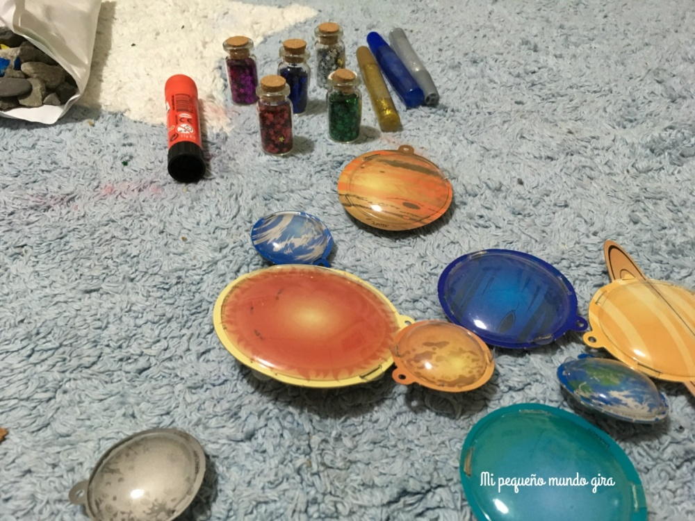 materiales para hacer el sistema solar