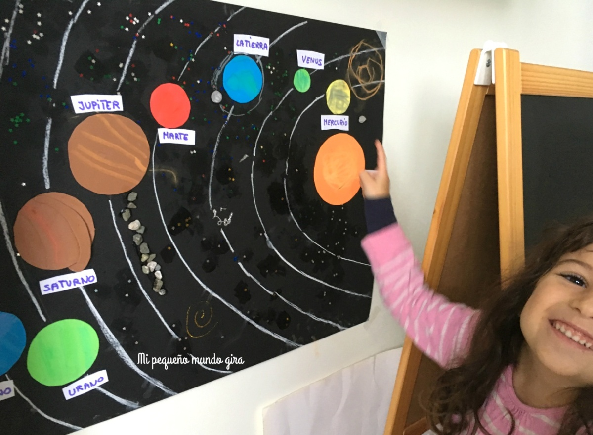 mural del sistema solar