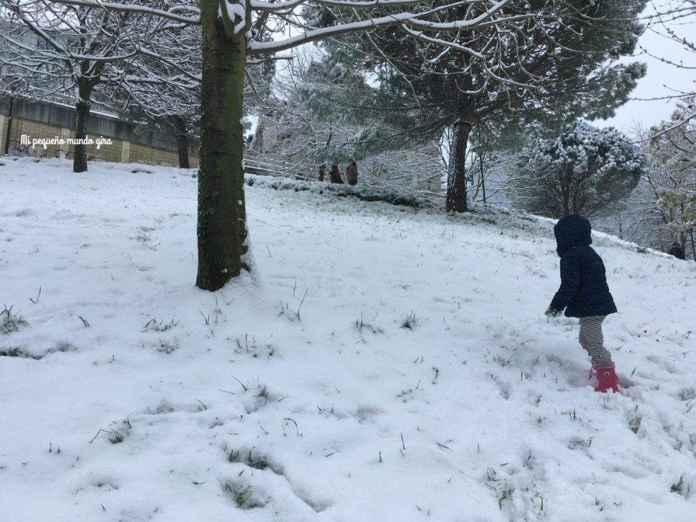 nieve en febrero