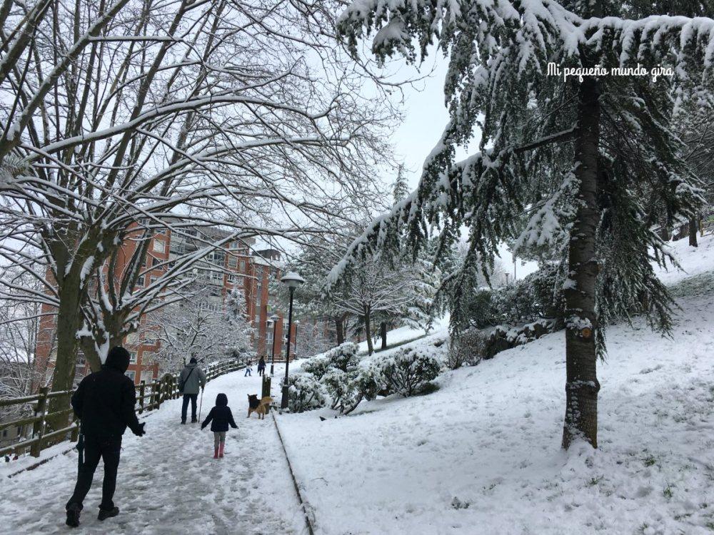 nieve en nuestro pueblo