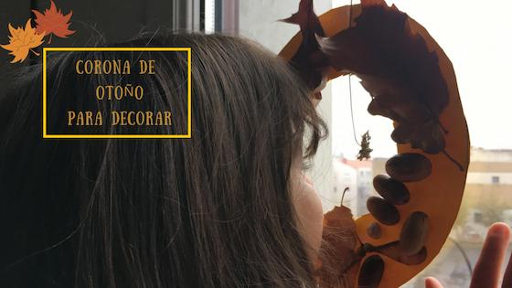 corona de otoño para decorar la ventana